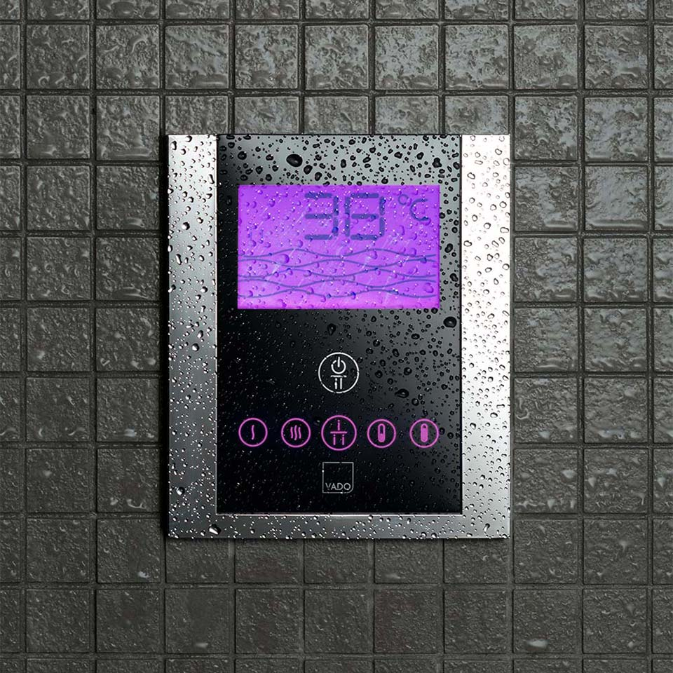 digital touch screen shower control